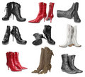 Set of female boots Stock Images