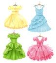 Set of festive dresses for girls.