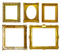 Set of few picture frames isolated over white background Stock Images