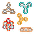 Set of fidget spinners.