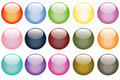 Set of fifteen web buttons Stock Image