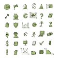 Set of finance icons for your design Royalty Free Stock Image