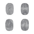 Set Of Fingerprint In Black Si...