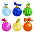 Set of fir balls Stock Images