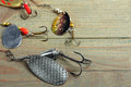 Set of fishing tackle Royalty Free Stock Photo