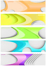 Set of five banners Royalty Free Stock Photo