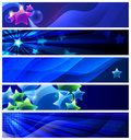 Set of five stars  banners / vector Royalty Free Stock Photography
