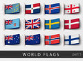 Set of flag labels of all countries