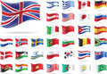 Set of flags. Stock Images