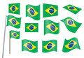 Set of flags of Brazil Royalty Free Stock Photos