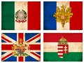 Set of flags from Europe #1 Royalty Free Stock Photo