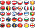Set of flags. Glossy buttons. Royalty Free Stock Photo