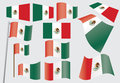Set of flags of Mexico Stock Images