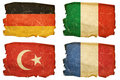 Set Flags old #2 Royalty Free Stock Image