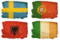 Set Flags old #4 Royalty Free Stock Photography