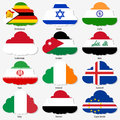 Set Flags of world sovereign states in form Stock Photo