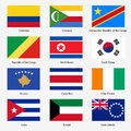 Set flags of world sovereign states vector illustration number exact colors easy changes Stock Images