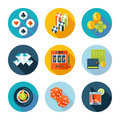 Set of flat casino icons vector stuff in modern style Royalty Free Stock Image