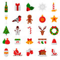 Set of Flat Christmas Icons. Holiday Signs and Symbols. Royalty Free Stock Photo