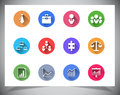 Set of flat color buttons. Royalty Free Stock Photo