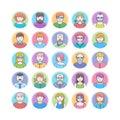 Set of flat design avatars