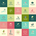 Set of flat design beauty and nature icons Royalty Free Stock Photo