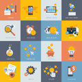 Set of flat design concept icons for finance banking online payment online commerce website development and mobile phone Stock Image