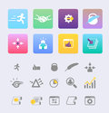 Set flat design icon vector this is file of eps format Stock Photography
