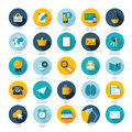 Set of flat design icons for e commerce pay per c modern Royalty Free Stock Image
