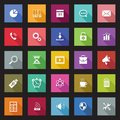 Set of flat design icons with long shadows metro icon style Stock Image