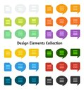 Set of flat design icons and speech bubbles this is file eps format Royalty Free Stock Photo