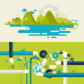 Set Of Flat Design  Illustrati...