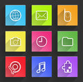 Set of flat design infographic elements. Royalty Free Stock Photo