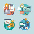 Set  flat design for internet marketing. Icons can Royalty Free Stock Photo