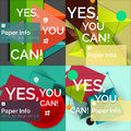 Set of flat design square banners Royalty Free Stock Photo