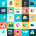 Set of flat design style universal icons Royalty Free Stock Photo