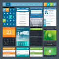 Set of flat design ui elements for mobile app and web Stock Photo