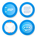 Set of flat document icons vector illustration Stock Images