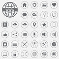Set of flat icons for mobile app and web vector, solid illustration, pictogram isolated on gray.