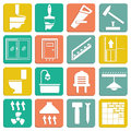 Set of flat icons repair vector illustration Royalty Free Stock Photography
