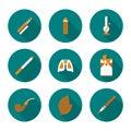 Set flat icons Smoking