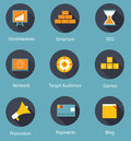 Set of Flat Icons Vector Illustration Royalty Free Stock Image