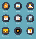 Set of Flat Icons Vector Illustration Stock Photography