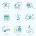 Set of flat line icons for web development Royalty Free Stock Photo