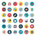 Set of flat medical icons cartoon vector illustration Royalty Free Stock Photography
