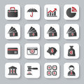 Set of flat modern banking web icons Royalty Free Stock Photo