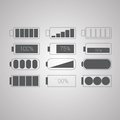 Set of flat simple web icons vector illustration Royalty Free Stock Images