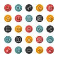 Set of flat thin icons. Style lines. Vector collection.