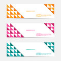 Set of Flat Triangle Flat Marketing Design Banner