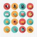 Set of flat web design icons illustrated different Stock Images